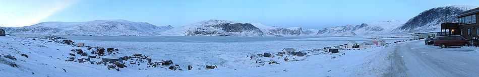 Panorama view of Pangnirtung Fiord.
