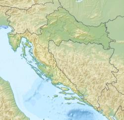 萨格勒布在克罗地亚的位置