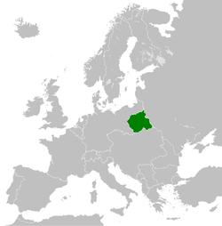 波兰王国在欧洲的位置