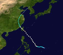 强台风麦德姆的路径图