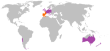 Oryctolagus cuniculus distribution Map.png