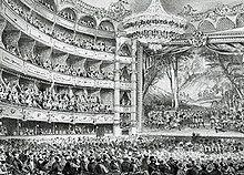 interior of 19th century theatre