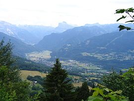 A general view of Samoëns