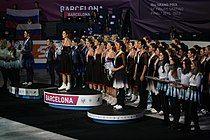 2015 Grand Prix Synchronized Skating Medal Ceremonies.
