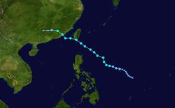 强热带风暴白鹿的路径图