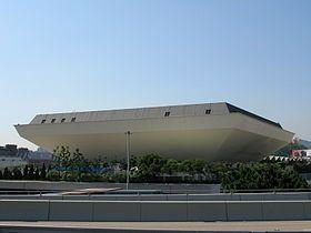 香港体育馆钻石形的建筑外貌