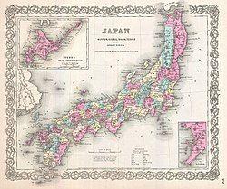 江户幕府的领土范围(1855年)