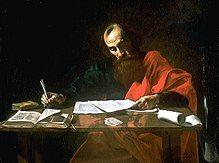 """File""""-Saint Paul Writing His Epistles"""" by Valentin de Boulogne.jpg"""