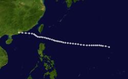 1906年丙午台风的路径图