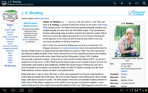 Kiwix on an Android-powered tablet