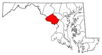 马里兰州蒙哥马利县地图