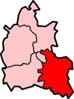 南牛津郡位于牛津郡的位置