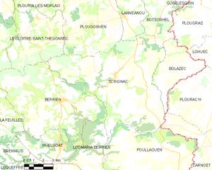 斯克里尼亚克市镇地图