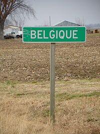 Belgique, Missouri, roadsign