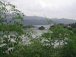 流经加平郡的北汉江