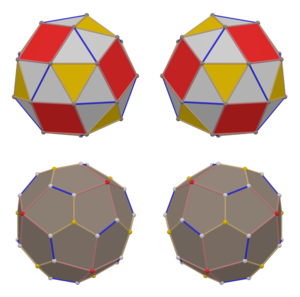 Chiral snub cubes and duals.png