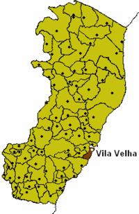 Espirito Santo Map with Vila Velha Municipality Highlighted.PNG