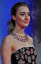 A head-and-shoulder shot of Saoirse Ronan at the 69th British Academy Film Awards red carpet