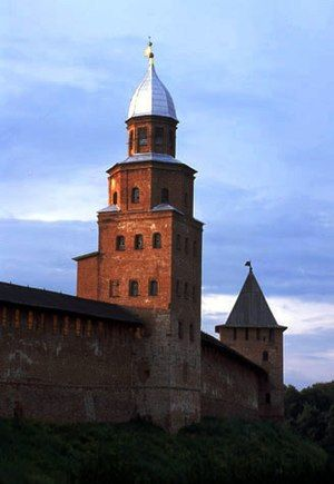 The medieval walls of Novgorod (pictured) withstood many sieges