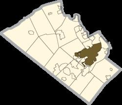 阿伦敦(利哈伊县地图)