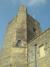 A photograph of Oxford Castle in the 21st century