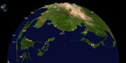 从太平洋往亚洲视角
