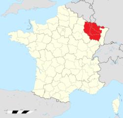 Location of Lorraine