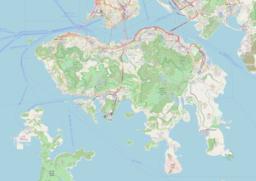 摩星岭 Mount Davis在香港岛的位置