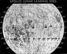 标出阿波罗十一号潜在着陆点的月球地图,二号地点入选