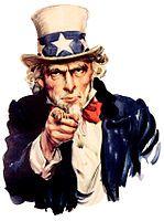 号召美国人入伍的山姆大叔宣传画