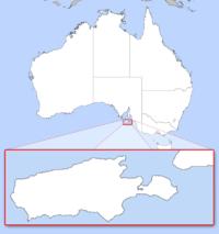 Location of 坎加鲁岛(袋鼠岛)