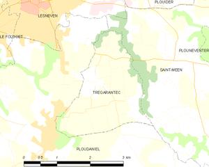 特雷加朗泰克市镇地图