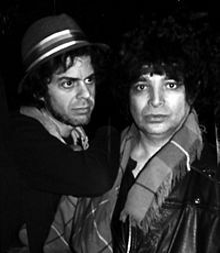Vega (right) with Martin Rev, 1988