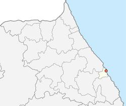 东海市在江原道的位置