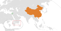 Palestine和China在世界的位置