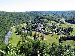 瑟穆瓦河谷的风景,位于比利时的弗拉昂(Frahan)村附近。