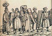 Hungarian combatants, escort of Emperor Maximilian I