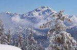 冬季的普雷斯顿峰