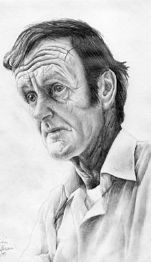A pencil drawing of Colin McCahon by Allan Mollison (2009)