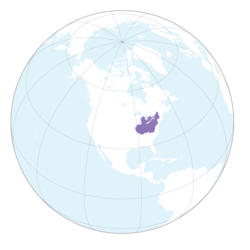 Map showing historical (in purple) and currently recognized (in pink) Iroquois territory claims.