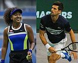 Naomi Osaka and Novak Djokovic
