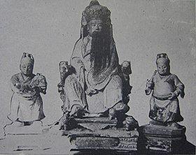 明宁靖王朱术桂神像