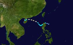 强台风卡努的路径图