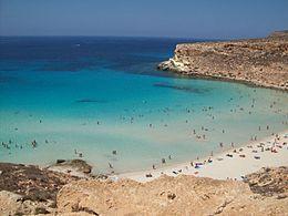 Spiaggia Isola dei Coniglio Lampedusa.JPG