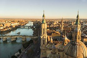 View of Zaragoza and the Ebro