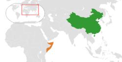 中国和索马里在世界的位置