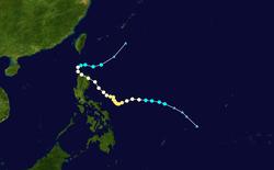 台风米娜的路径图