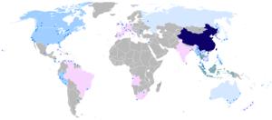 汉语使用者分布