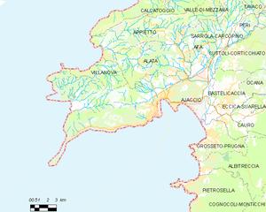阿雅克肖市镇地图
