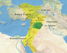Color-coded map of the ancient Near East